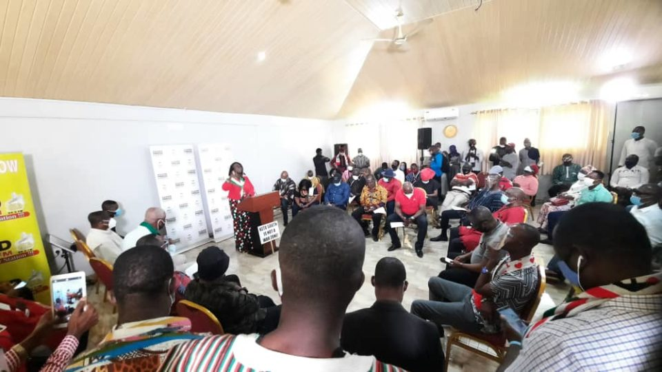 Scene of the NDC Press Conference At Aflao