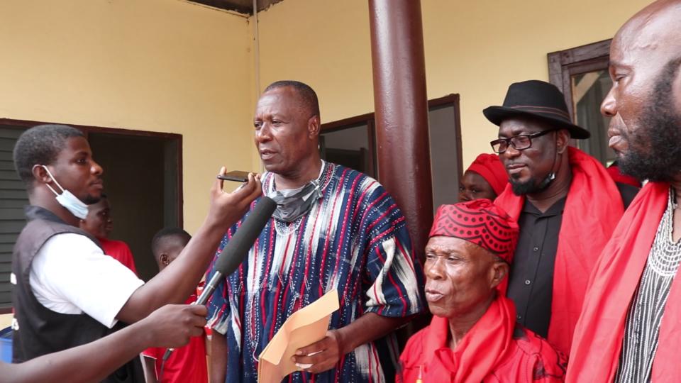 Regent Togbi Tamekloe Addressing the media